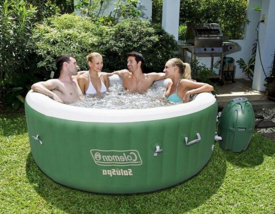 Coleman SaluSpa Inflatable Hot Tub Spa Green 77x28 4-6 in