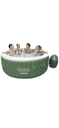 "Coleman SaluSpa Inflatable Hot Tub Spa Green & White 77"" X"