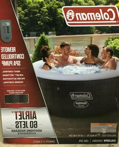saluspa portable 4 person outdoor inflatable hot