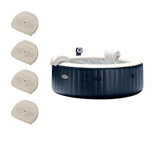 Intex Pure Spa 6 Person Portable Outdoor Bubble Jets Hot Tub