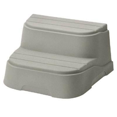 Life Smart 2 Tier Non Slip Hot Tub Steps for Rectangle Squar