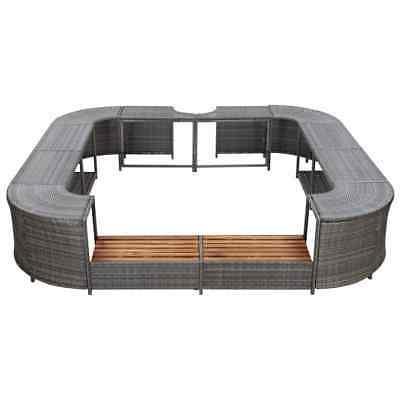 vidaXL Square Spa Gray Poly Tub Sun Enclosure