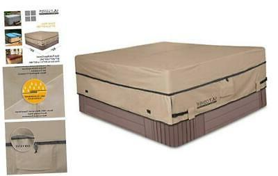 waterproof 600d polyester square hot tub cover