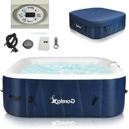 Inflatable Hot Tub Outdoor Jacuzzi Portable Spa 4 Person Hot