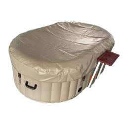 oval inflatable hot tub spa with drink