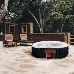 ALEKO Oval Inflatable Hot Tub With Drink Tray and Cover 2 Pe