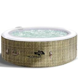 Goplus 4-6 Person Outdoor Spa Inflatable Hot Tub for Portabl