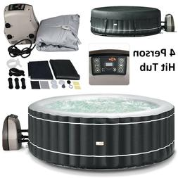 Portable Hot Tub Spa Inflatable 4 Person Massage Pool Heated