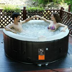 Portable Inflatable Bubble Massage Spa Hot Tub 4 Person Rela