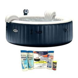 Intex Pure Spa 6 Person Inflatable Hot Tub with 14888 Chemic