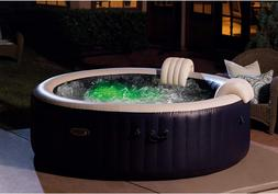 Intex PureSpa Plus 6 Person Portable Inflatable Hot Tub Bubb