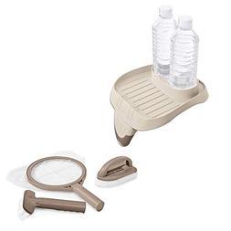 Intex PureSpa Hot Tub Attachable Snack Cup Holder & Maintena