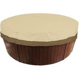 Round Spa Hot Tub Storage Cover Veranda Protector Pebble Wea