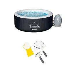 Coleman SaluSpa 4 Person Inflatable Hot Tub + Bestway 3 Piec