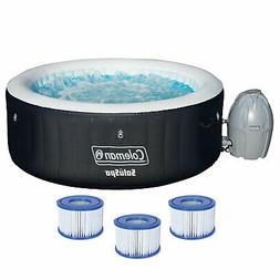 Coleman SaluSpa 4 Person Inflatable Hot Tub Spa with 3 Filte