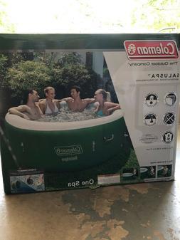 "Coleman SaluSpa Inflatable Hot Tub 77"" x 28"" Spa Green 4-6"