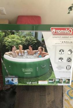 "Coleman SaluSpa Inflatable Hot Tub Spa Green White 77"" x 28"""