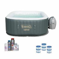 Coleman SaluSpa Inflatable Jacuzzi Hot Tub w/ Spa Bromine Ki