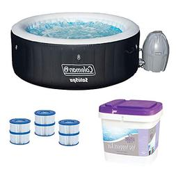 Coleman SaluSpa Inflatable Hot Tub + Spa Support Kit + Filte