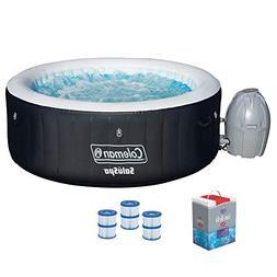 Bestway SaluSpa Portable Hot Tub + Spa Chlorine Kit + Filter