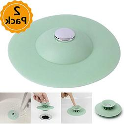 2pcs Shower Drain Stopper Plug Bathtub Cover Portable Silico