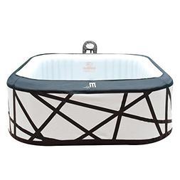 MSpa Soho Silver & Black Hot Tub, 6 Person Inflatable Square