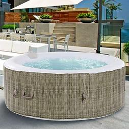 GYMAX Outdoor Spa, 6 Person Portable Inflatable Hot Tub with