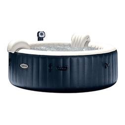 Intex Blowup Hot Tub + Headrest + Cup Holder/Tray + Seat + 2