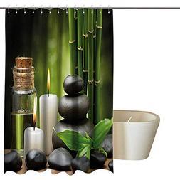 Suchashome Spa Decor Mildew Resistant Fabric Shower Curtain