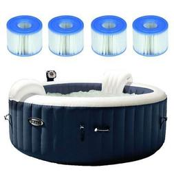 Intex Pure Spa Inflatable 4 Person Hot Tub w/Type S1 Filter
