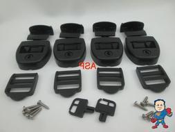 4X Spa Hot Tub Cover Latch Strap Repair Kit & Key Hot Spring